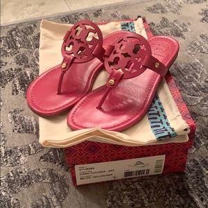Worn once Tory Burch Hot Pink Miller Sandal
